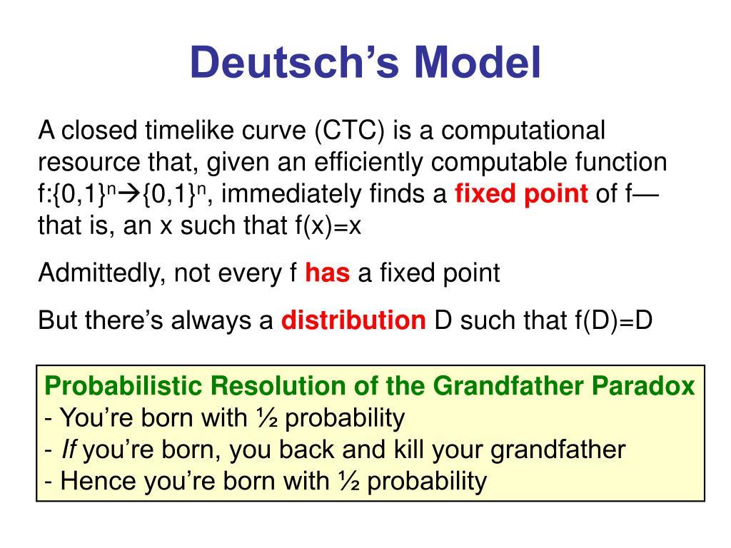 Deutsch's Model