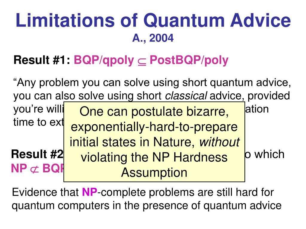 Limitations of Quantum Advice