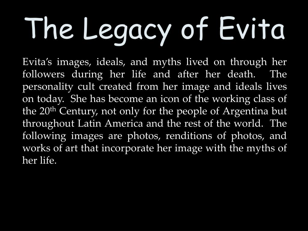 The Legacy of Evita