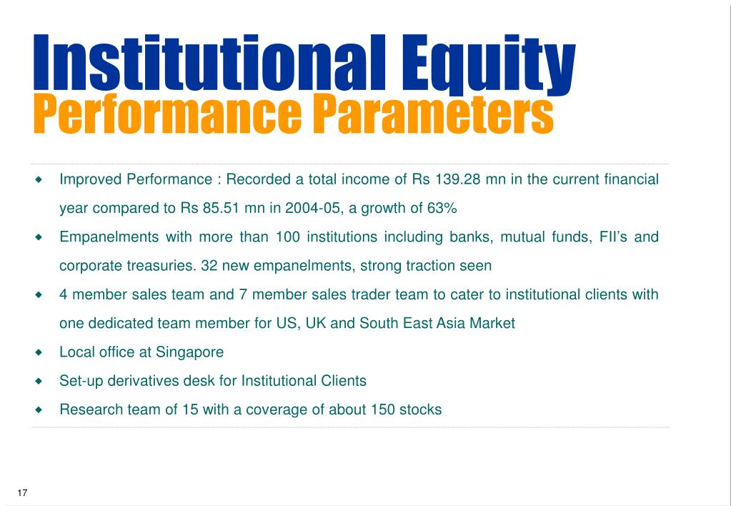Institutional Equity