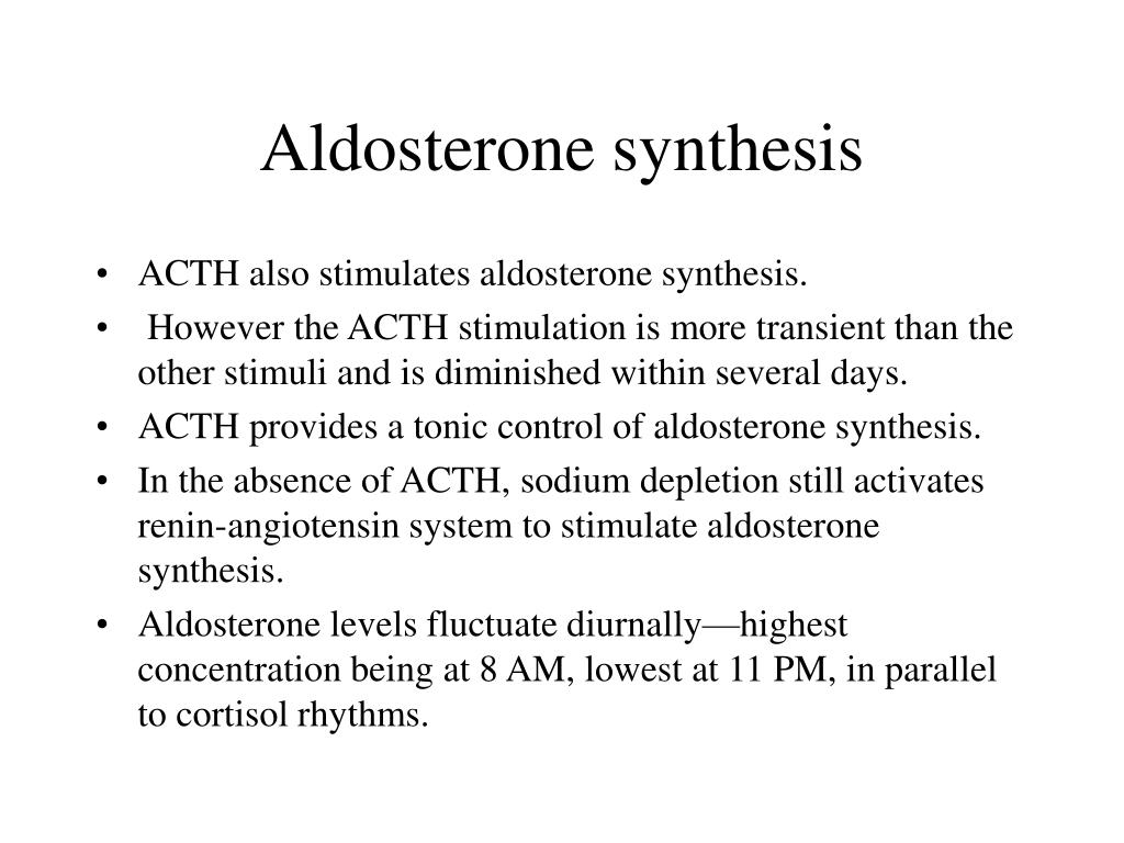 Aldosterone synthesis