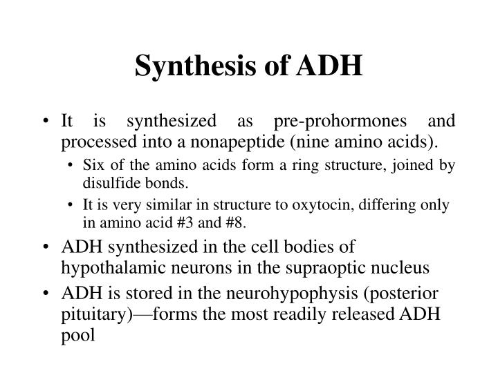 Synthesis of adh