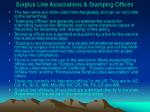 surplus line associations stamping offices