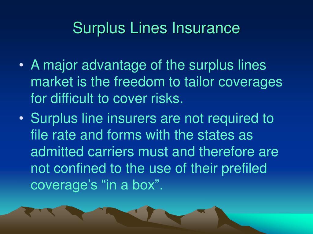 Surplus Lines Insurance