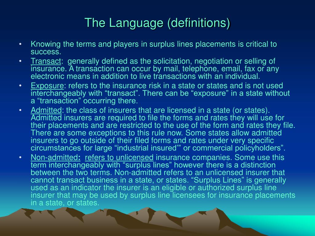 The Language (definitions)