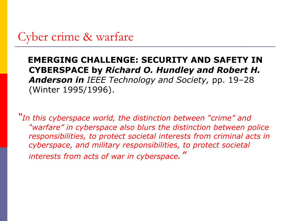 Cyber crime & warfare