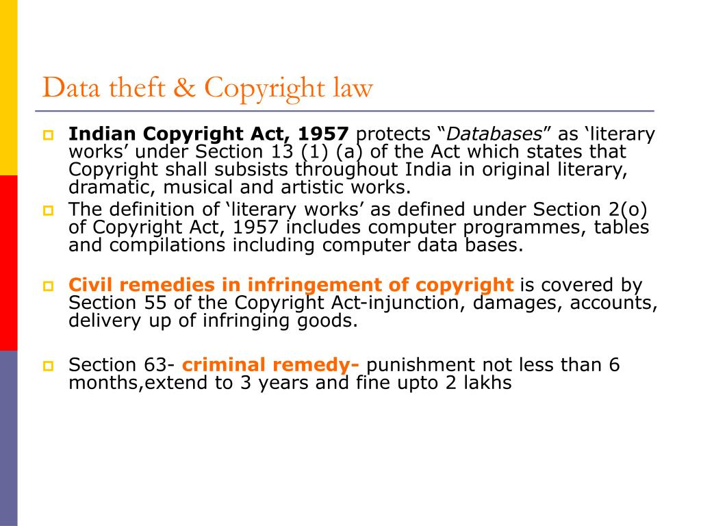 Data theft & Copyright law