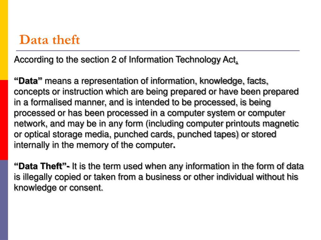 Data theft