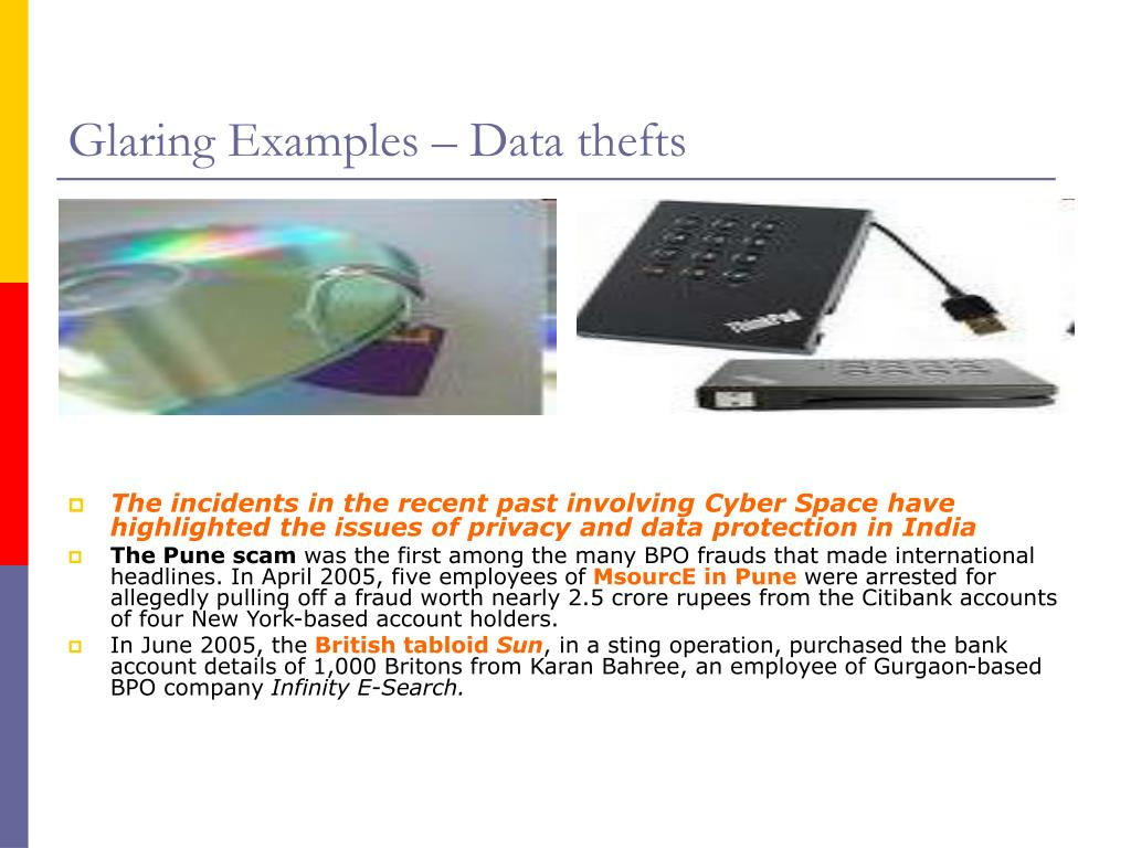 Glaring Examples – Data thefts