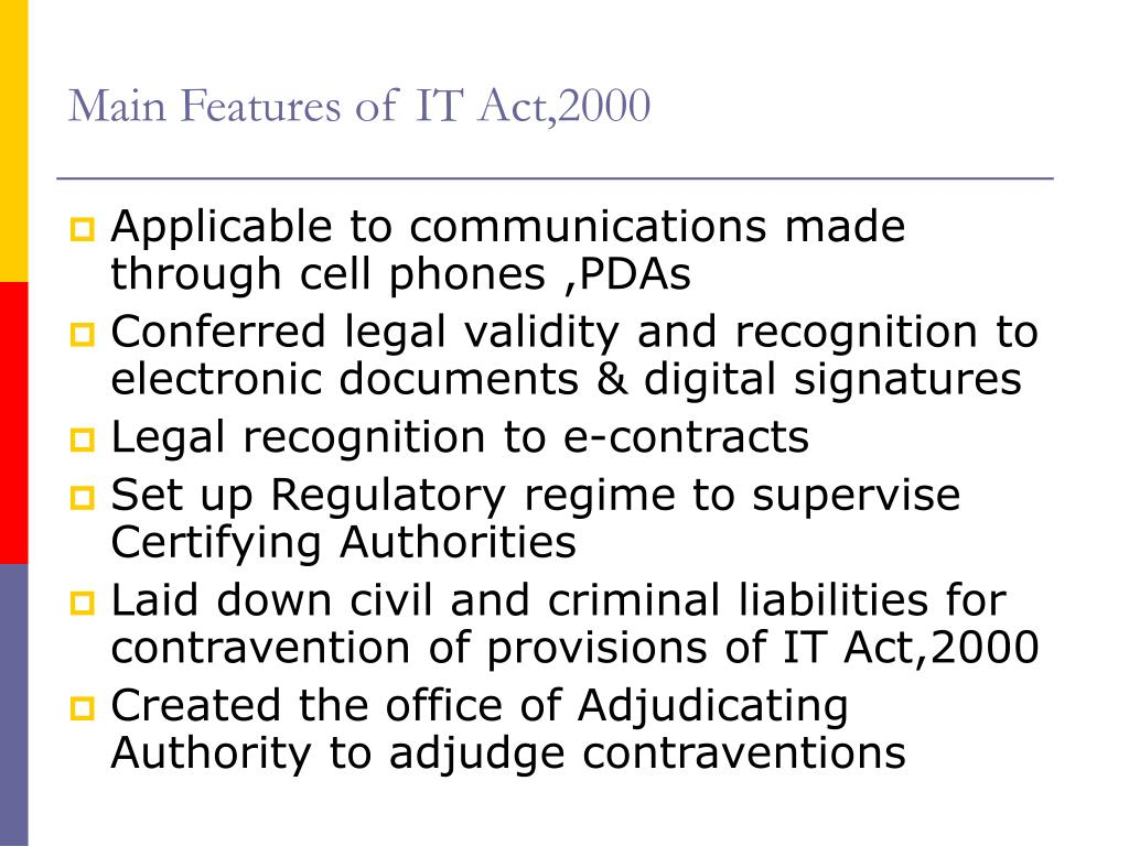 Main Features of IT Act,2000