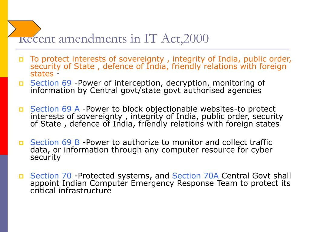 Recent amendments in IT Act,2000