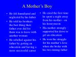 a mother s boy