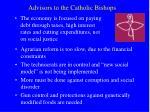 advisors to the catholic bishops