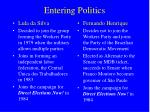 entering politics