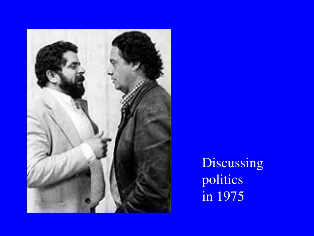 Discussing politics