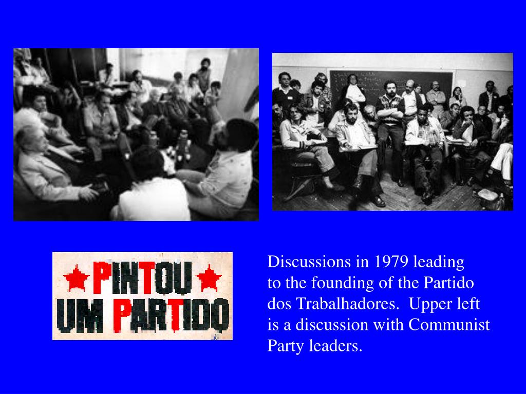 Discussions in 1979 leading