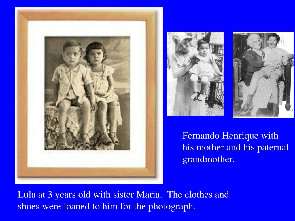 Fernando Henrique with his mother and his paternal grandmother.