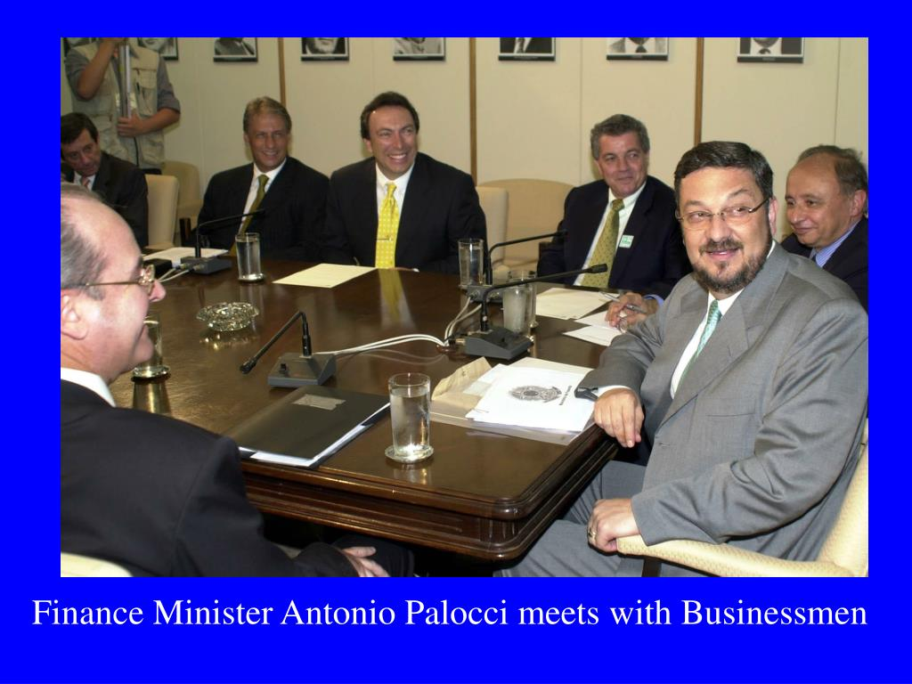 Finance Minister Antonio Palocci meets with Businessmen