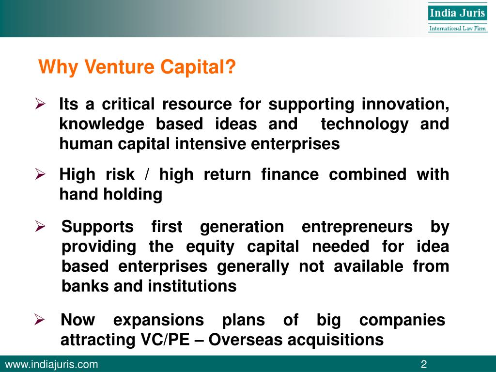 Why Venture Capital?