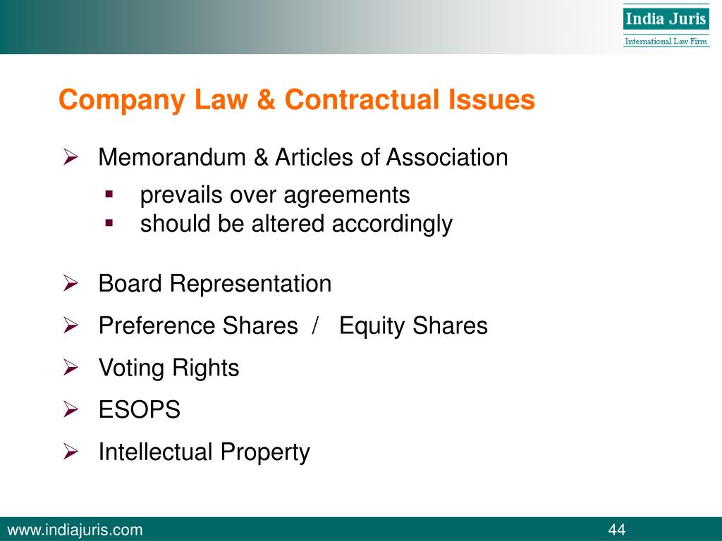 Company Law & Contractual Issues