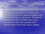 beck depression inventory ii bdi ii