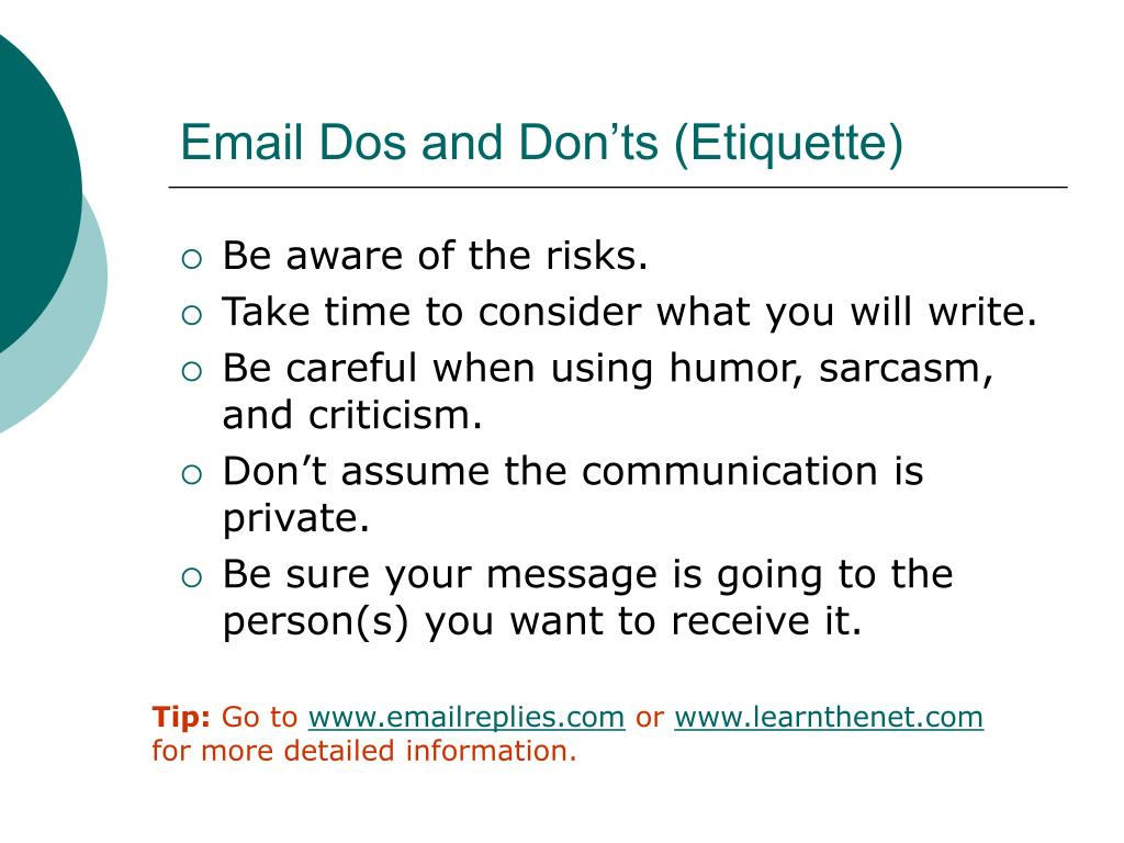Email Dos and Don'ts (Etiquette)