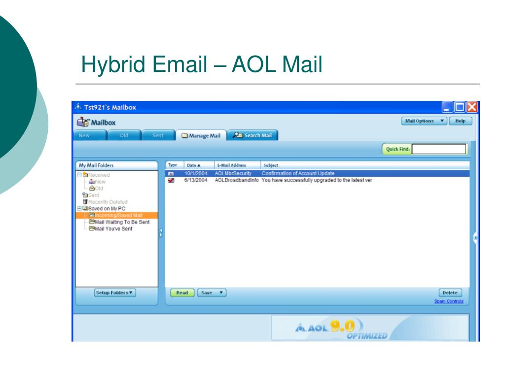 Hybrid Email – AOL Mail