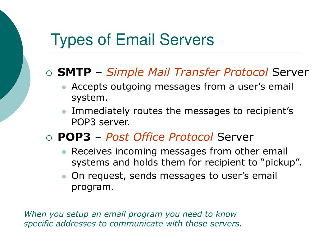 Types of Email Servers
