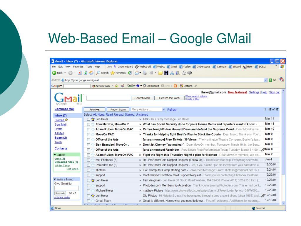 Web-Based Email – Google GMail