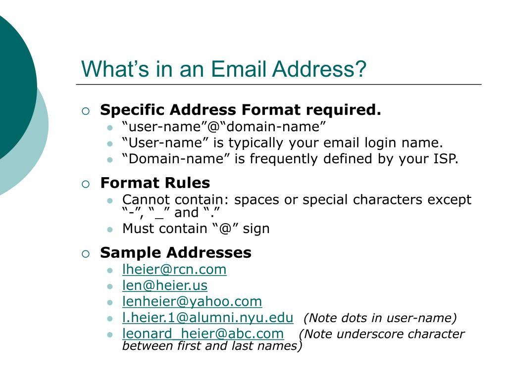 What's in an Email Address?