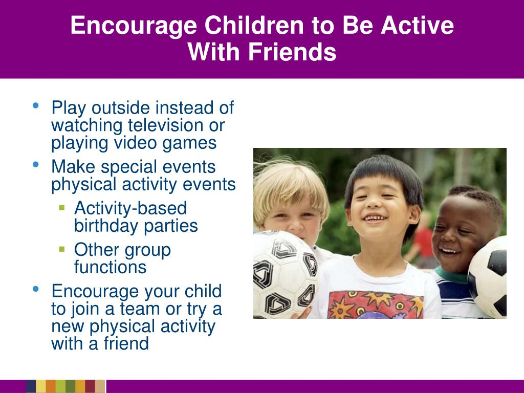 Encourage Children to Be Active