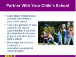 partner with your child s school