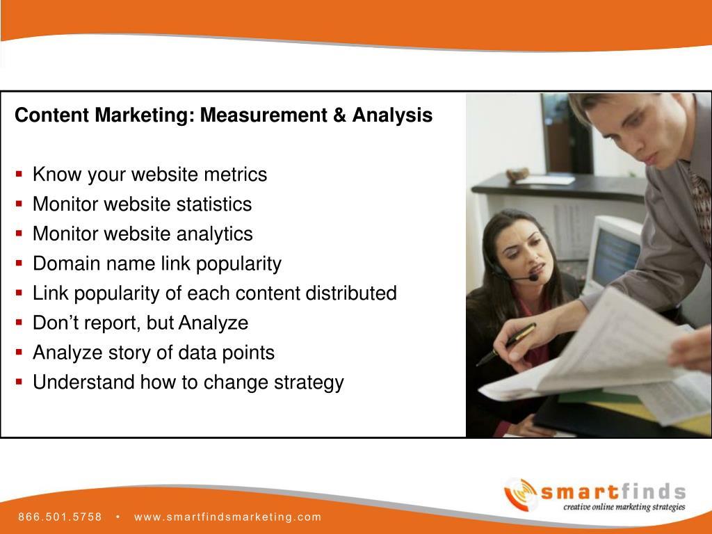 Content Marketing: Measurement & Analysis