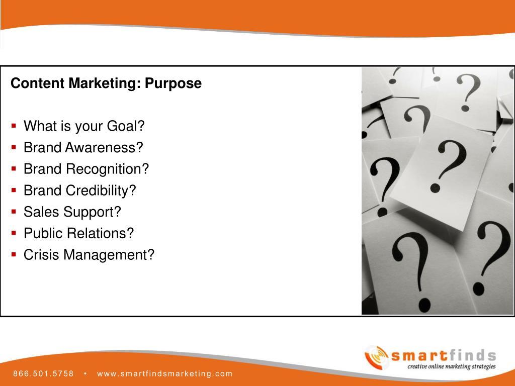Content Marketing: Purpose