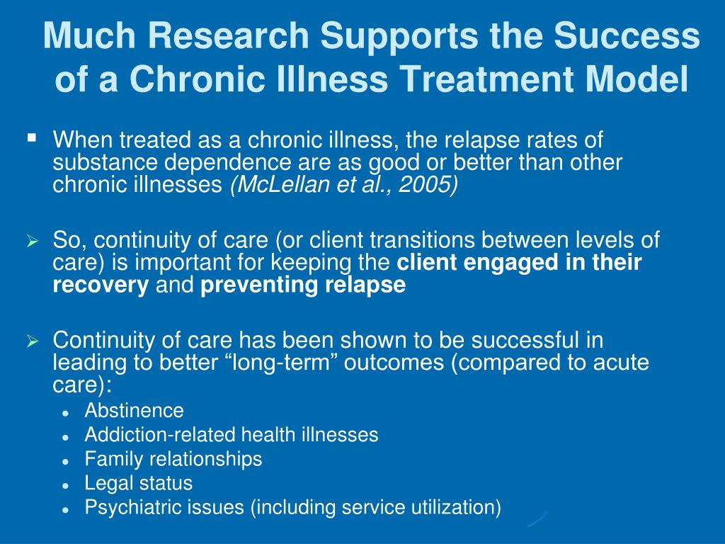 Much Research Supports the Success of a Chronic Illness Treatment Model