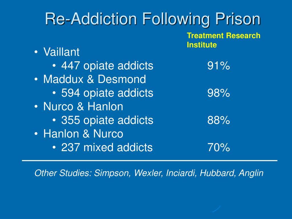 Re-Addiction Following Prison