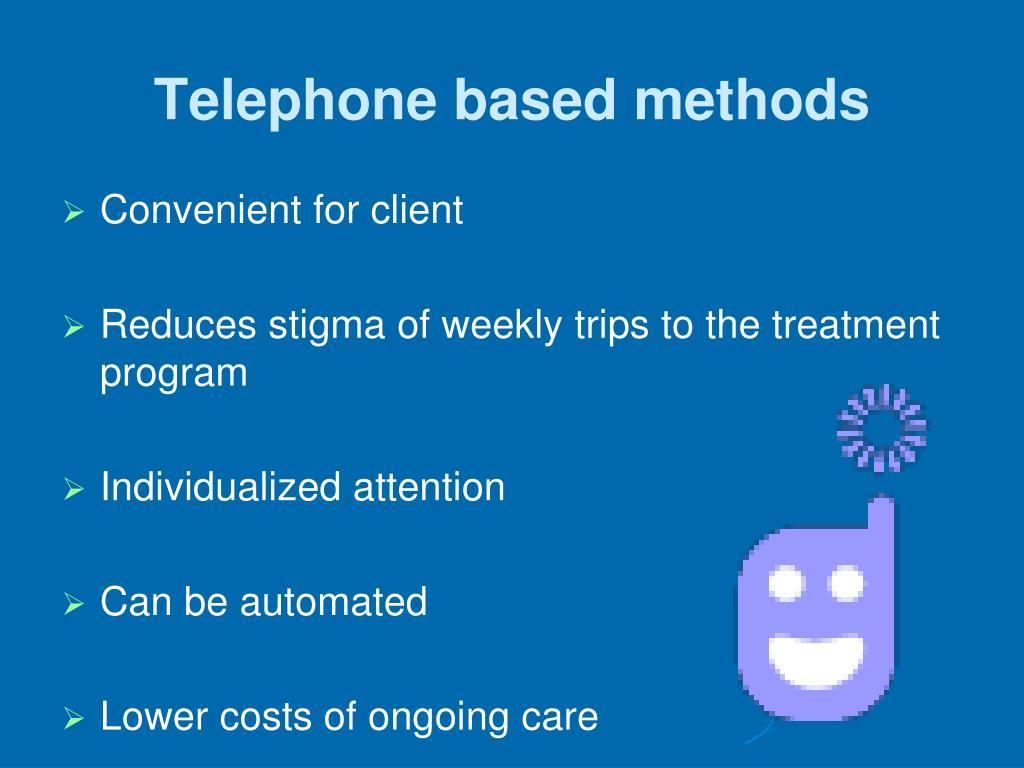Telephone based methods