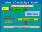 what is continuity of care