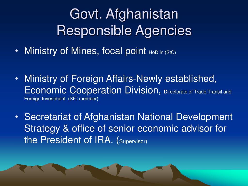 Govt. Afghanistan