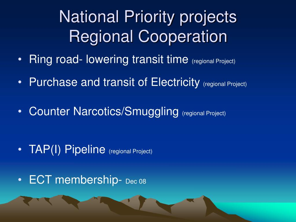 National Priority projects
