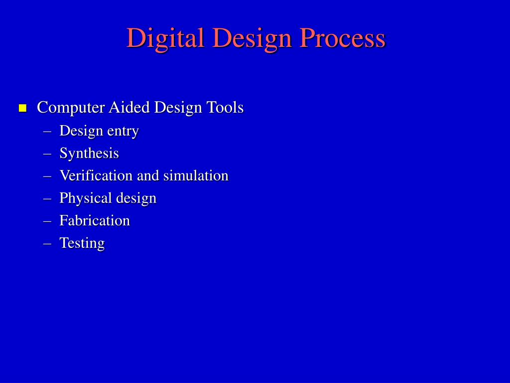 Digital Design Process