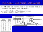 full adder with exor and and or