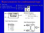 representations for combinational logic