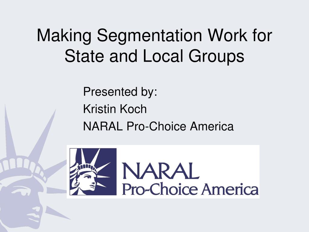 Making Segmentation Work for State and Local Groups