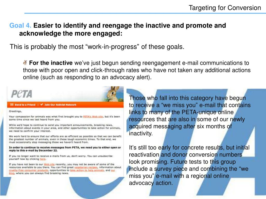 Targeting for Conversion