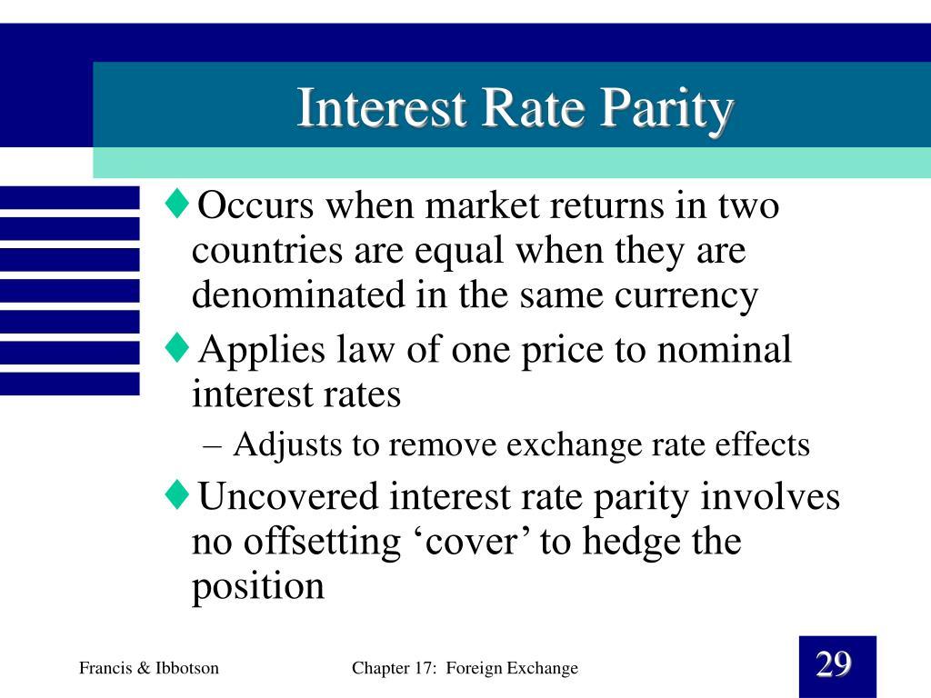 Interest Rate Parity
