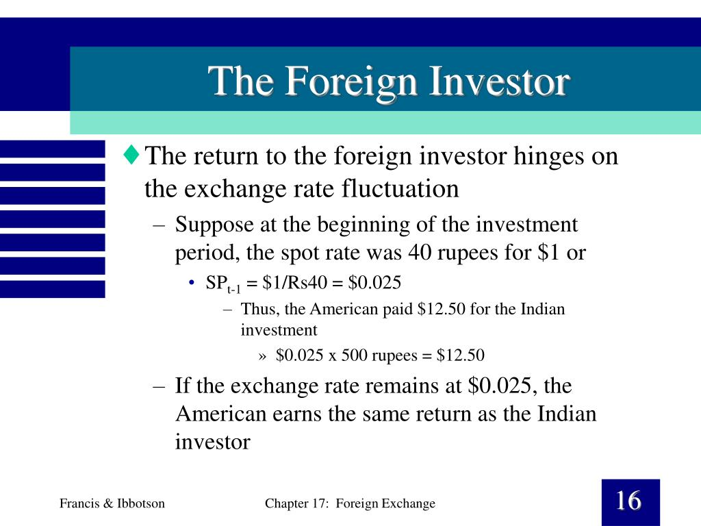 The Foreign Investor