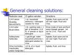 general cleaning solutions