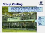 group v enting