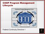 coop program management lifecycle